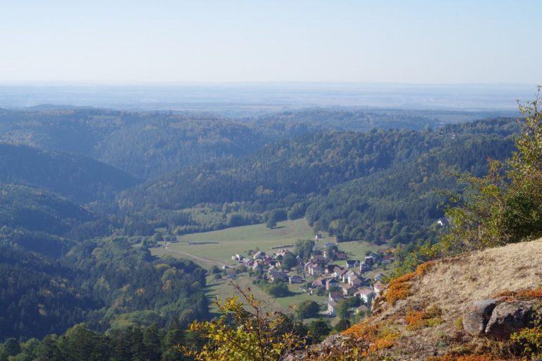 Vue sur la vallée depuis le Rocher de Dabo